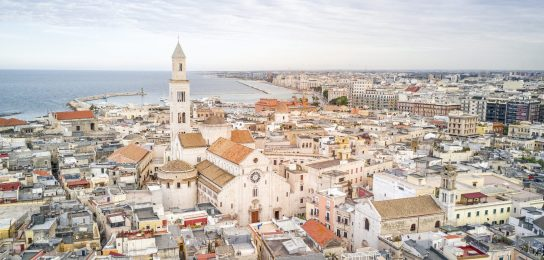 Panoramic view of old town in Bari, Puglia, Italy