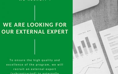 Become our external expert !